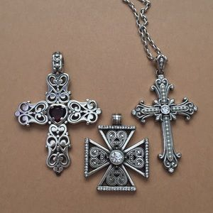 Set of Brighton Cross Pendants and Necklace